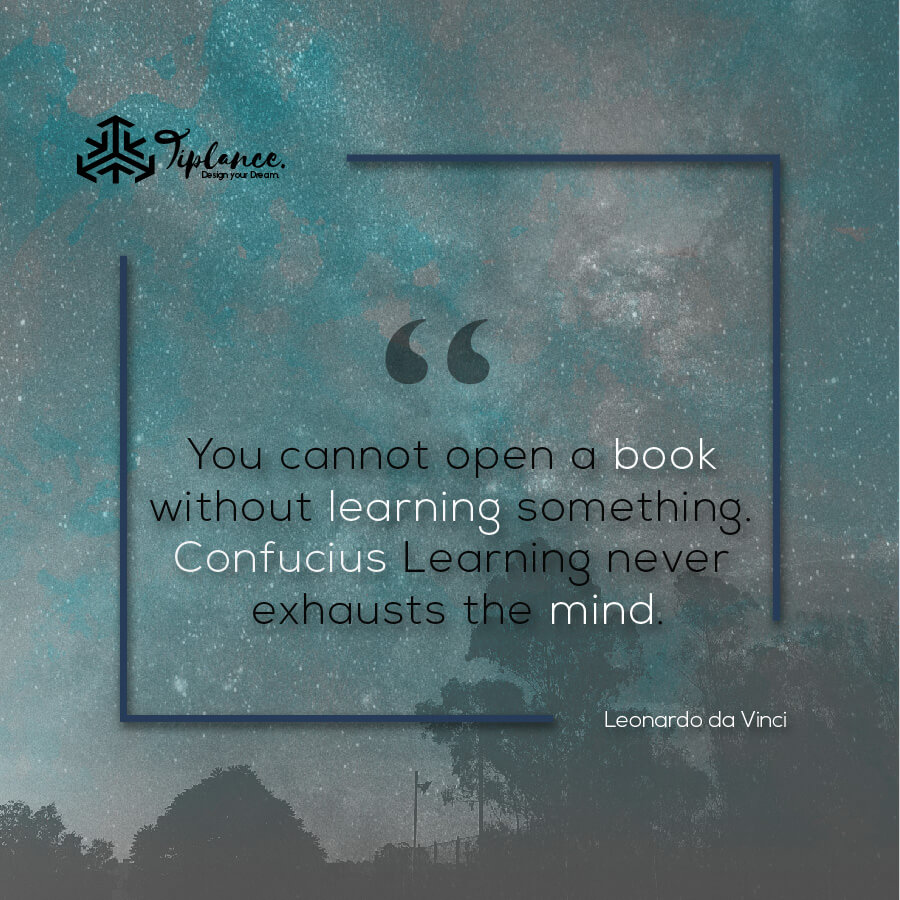 Leonardo da Vinci_ Learning Quote-Tiplance