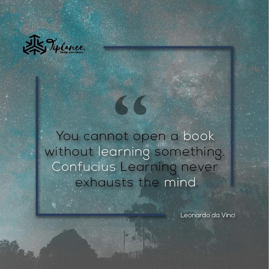 Leonardo da Vinci_ Learning Quote-Tiplance