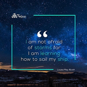 Louisa May Alcott Learning Quote