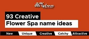 Flower Spa Name Ideas
