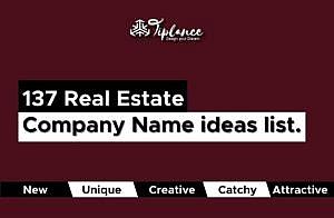 Real Estate Company Name list.