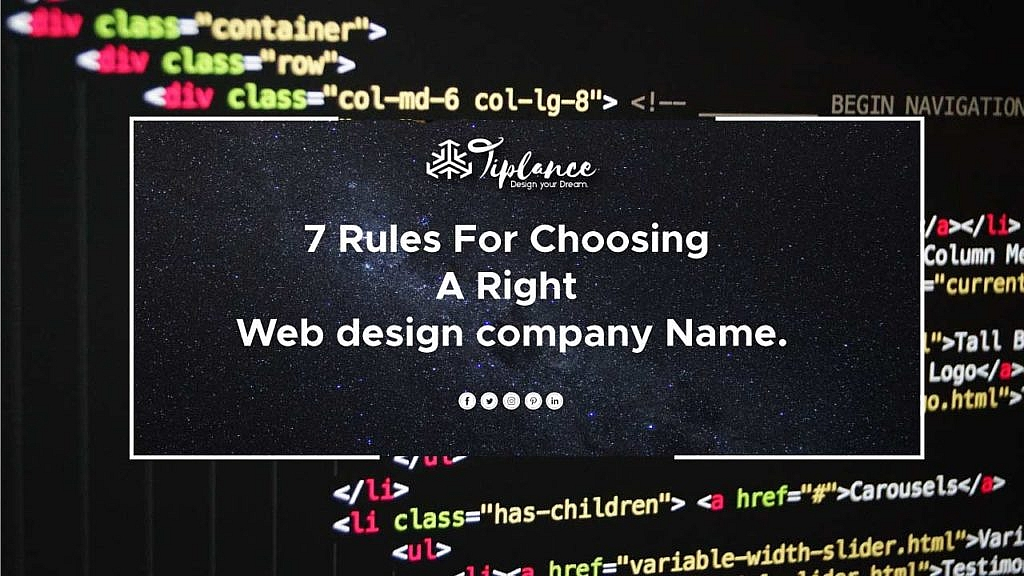 How To Choose Web Design Company Name