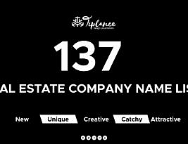137 Catchy New Real Estate company name Ideas and Suggestion list