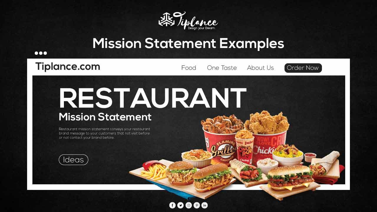 Restaurant Mission Statement example ideas
