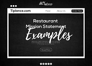 restaurant Mission Statement Examples