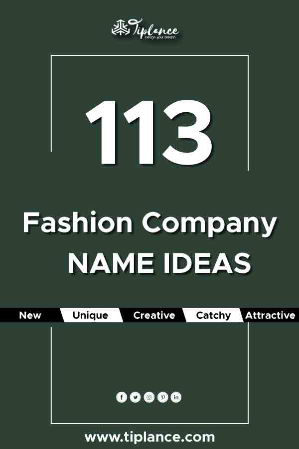 Fashion company name ideas
