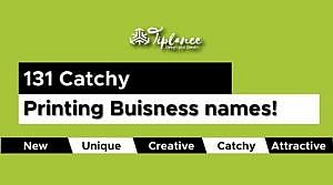 Printing business names