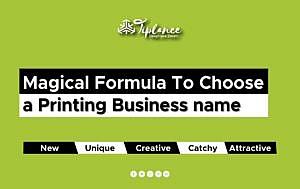 Printing company name ideas