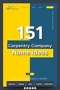 Carpentry company name ideas