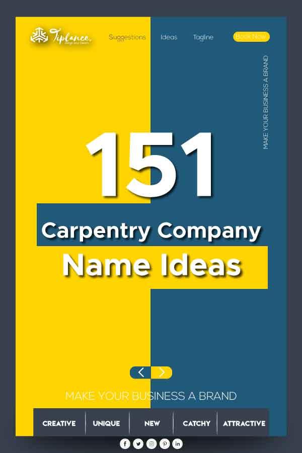 Carpentry company name ideas