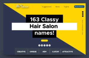 Classy Hair salon name ideas