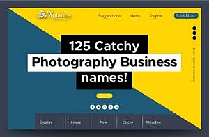 Photography business name