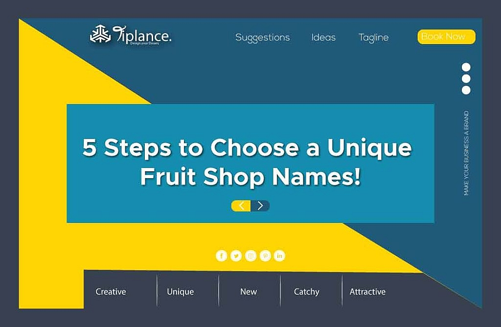 Step to Create Fruit Company name
