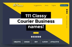 Courier Company name ideas