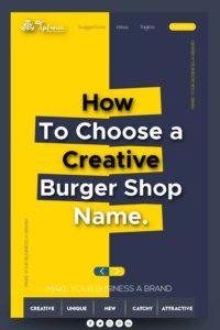 Creative Burger shop name ideas