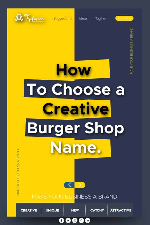 Creative Burger shop name ideas
