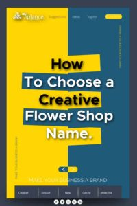 Flower shop names ideas