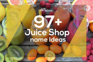 Juice Shop Name Ideas