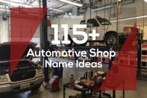Automotive Shop Name ideas