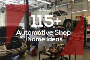 Automotive Shop Name Ideas
