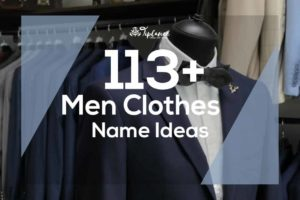 Men Clothes Name Ideas