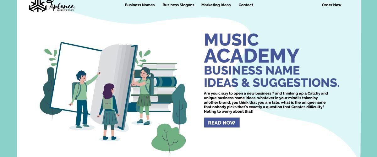 Music Academy name ideas