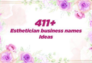Esthetician business names Ideas